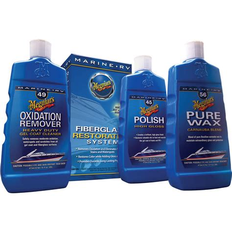 meguiars boat cleaning products meguiar s mg fiberglass oxidation removal kit