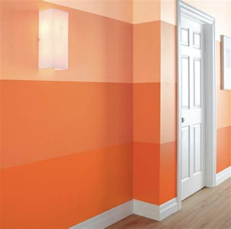 farbgestaltung flur mit orangen streifen freshouse