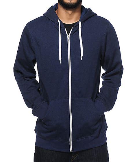 Jacket Hoodie Zipper Navy zine hooligan zip up hoodie