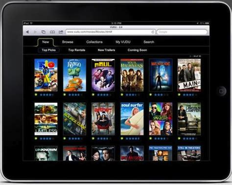 film it streaming vudu starts streaming movies to the ipad chooses the web
