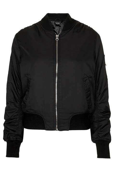Promo Jaket Denim Hoodie Black Garment Murah topshop ultimate ma1 bomber jacket in black lyst