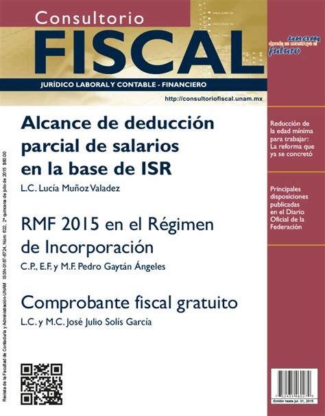 fiscalia publicaciones rgimen de incorporacin fiscal alcance de la no deducibilidad de salarios en la
