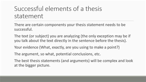 thesis statement translation thesis statement lecture youtube