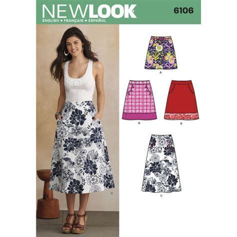 envelope skirt pattern pattern for misses skirts simplicity