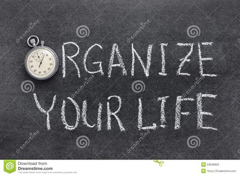 organize your life organize your life stock photo image 53946859