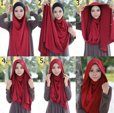 Tutorial Kerudung Segi Empat Pin Tutorial Pashmina On