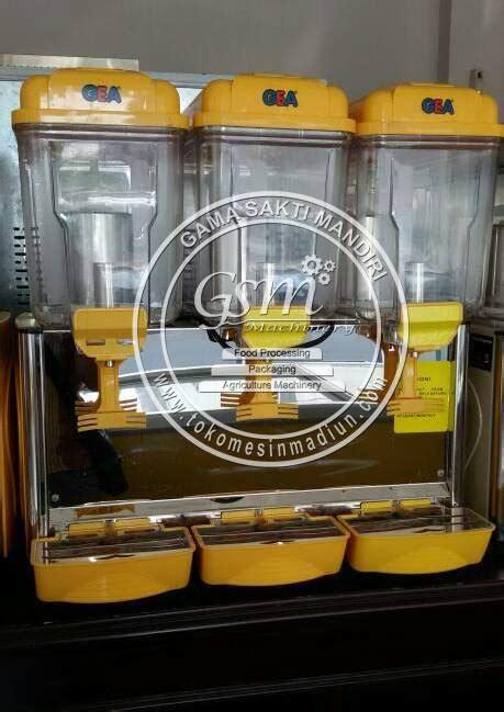 Juice Dispenser 3 Tabung Merk Gea mesin jus dispenser gea toko mesin madiun