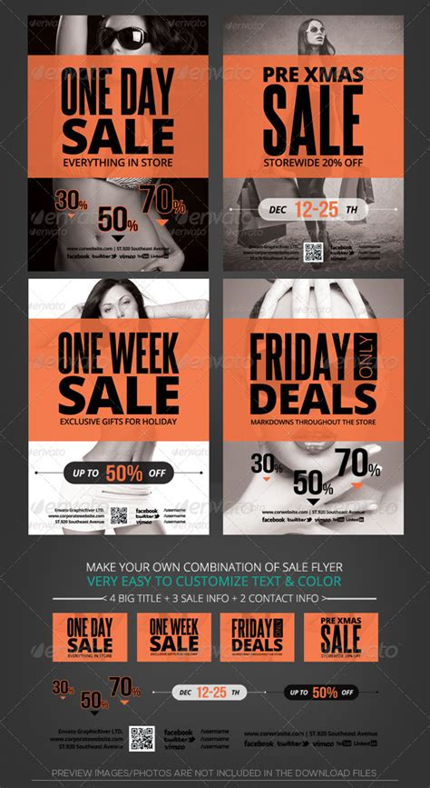 Store Sale Flyer Template By Katzeline Graphicriver Sales Flyer Template