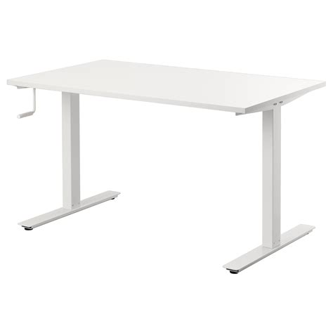Ikea Adjustable Height Standing Desk Skarsta Desk Sit Stand White 120x70 Cm Ikea
