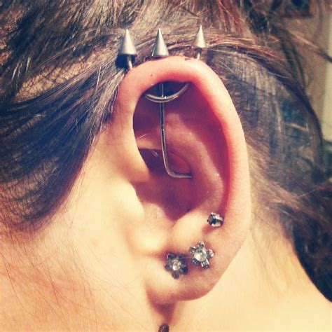 trident industrial piercing ear work the piercing ninjathe piercing