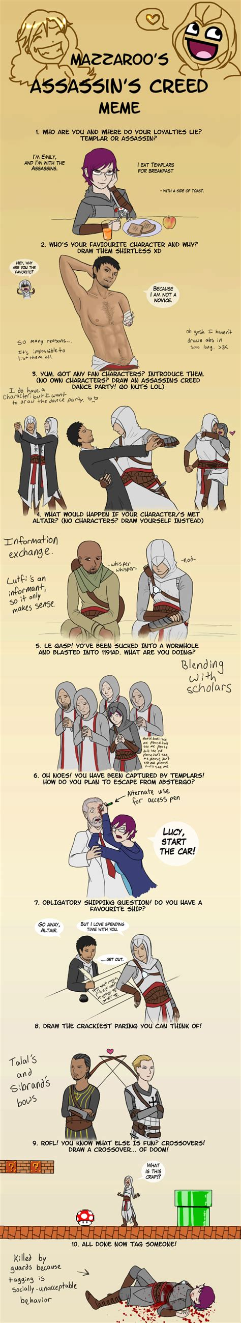 Assasins Creed Memes - assassin s creed meme by arithusa on deviantart