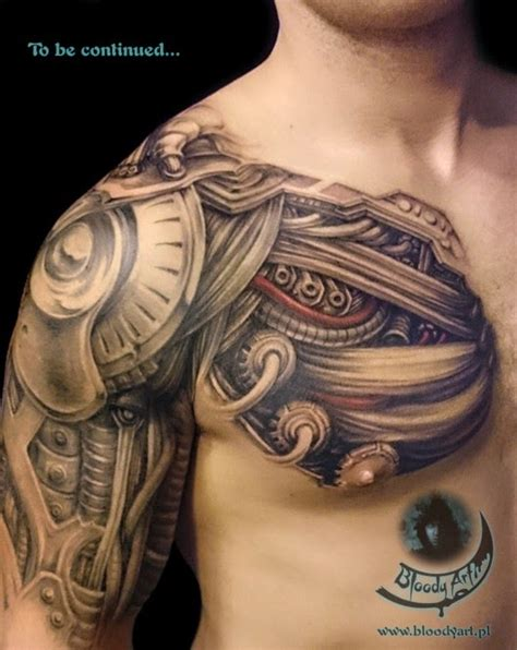 biomechanical chest tattoo designs my recommendations the artists