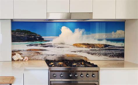 Ocean Wall Murals coloured glass kitchen cooker splashbacks bathroom