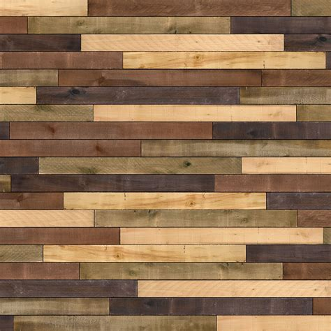distressed wood planks for walls shop ufp edge 10 3 sq ft distressed wall plank kit at