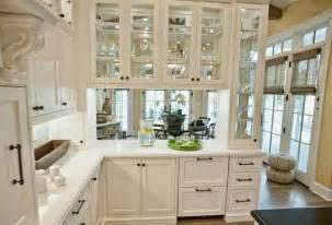 Idea elegant colorful home interiors kitchen cabinets in white color