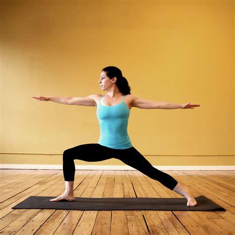 yoga warrior strike a yoga pose warrior 2 popsugar fitness