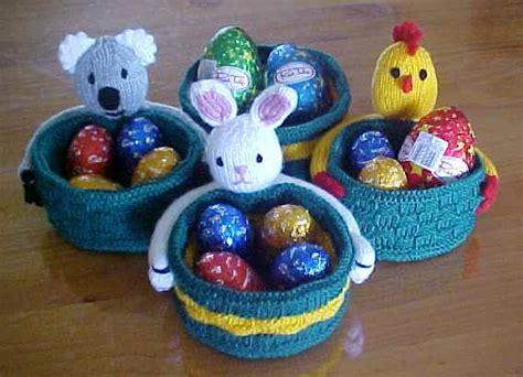 free knitted easter basket patterns easter baskets knitting patterns