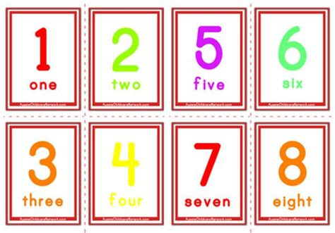 printable numbers 1 20 flashcards printable number flashcards 0 20 best photos of number