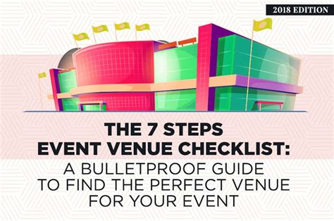 7 Steps To Finding The by The 7 Steps Event Venue Checklist 2018 Edition A