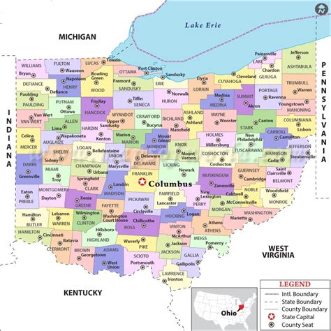 ohio on the map of usa map of ohio state map of usa