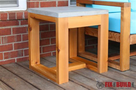 outdoor furniture side table diy outdoor side table 2x4 and concrete fixthisbuildthat