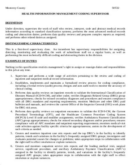 medical coding job description sle 9 exles in