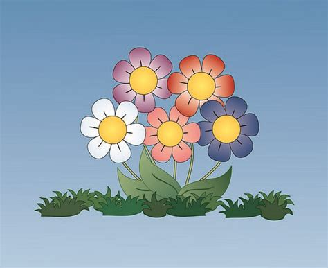 blooming flower cartoon pictures of flowers blooming flower inspiration