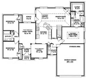 One Story House Floor Plans by Single Story Open Floor Plans One Story 3 Bedroom 2