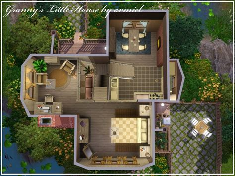 Small 2 Bedroom House Plans mod the sims granny s little house