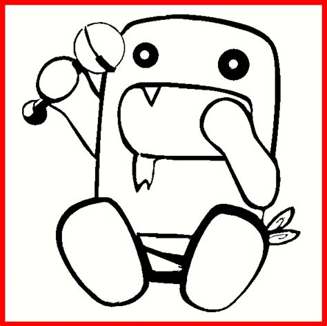 free coloring pages of chibi domo