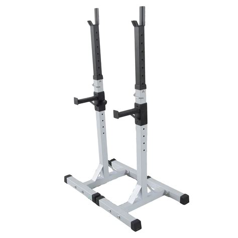 fitness adjustable squat barbell power rack weight