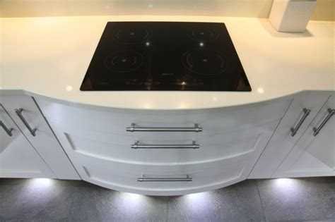 induction hob cutlery drawer contemporary white bespoke kitchens