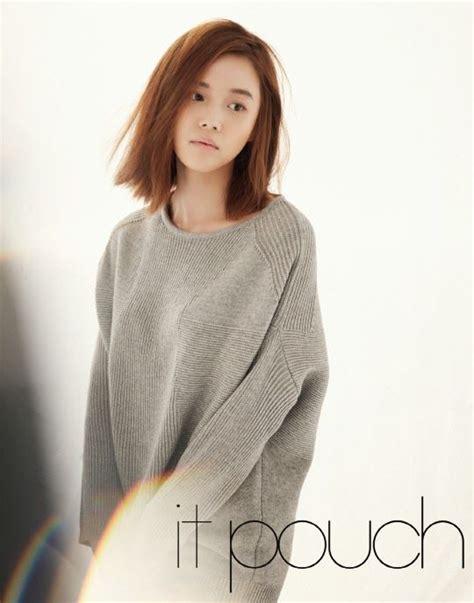 long bob hairstyles korean go na eun it pouch magazine march issue 2014 hair