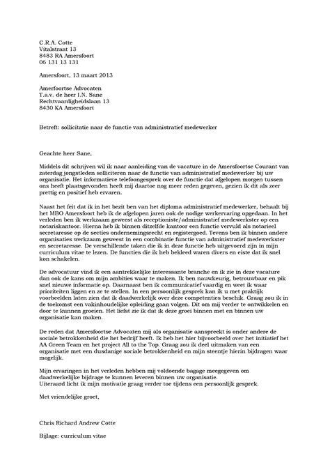 Voorbeeld Motivatiebrief Open Sollicitatie Bureau 2018 voorbeeld motivatiebrief opleiding verpleegkundige