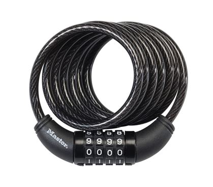 Bike Locks Master Lock 8157dpro 1 combination cable bike lock master lock security products college stuff