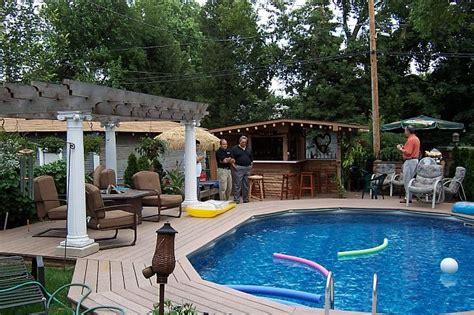 Small Backyard Above Ground Pool Ideas Above Ground Pool Landscaping Design Ideas Pool Design Ideas