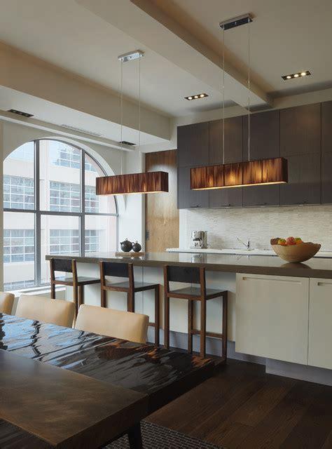modern loft dining kitchen areas