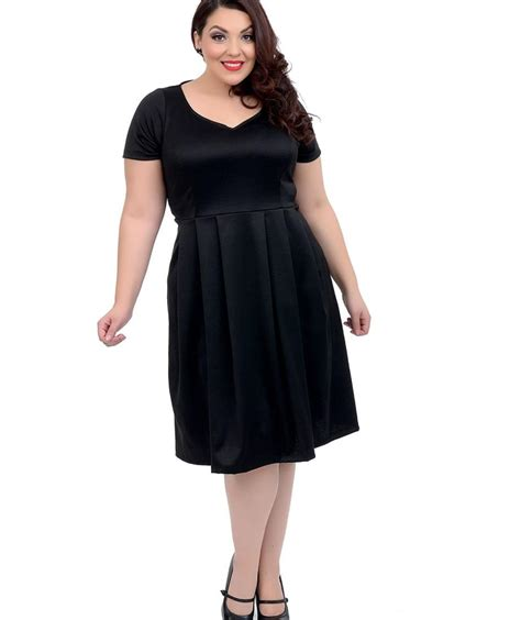 Dress Stretch plus size 1950s style dresses fifties fashion for