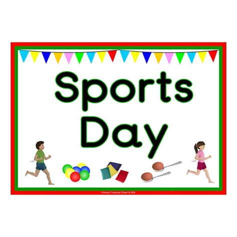 sports day poster template sports day poster primary treasure chest