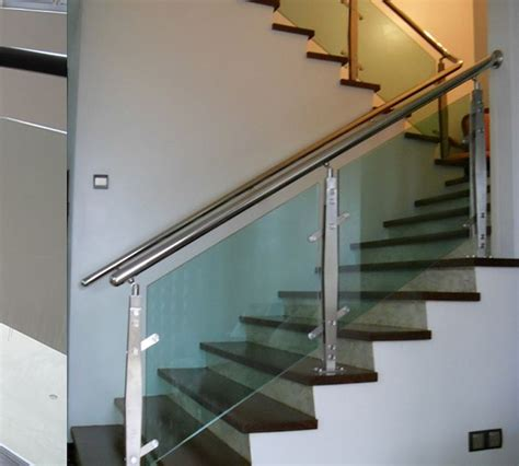 glass railing inside home stainless steel railings glass handrails installation