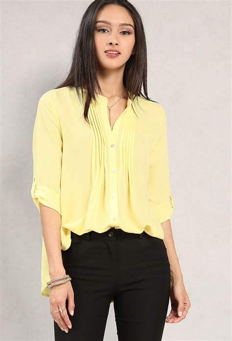 P Blouse Tunik Calista 1 pleated button up chiffon blouse shop blouse shirts at papaya clothing
