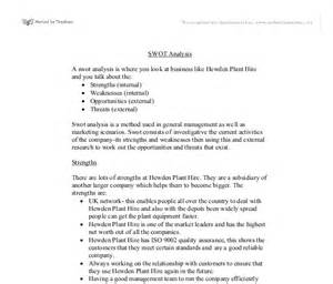 Style Analysis Essay Exle by Swot Essay Gallery