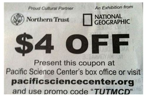 pacific science center coupon code