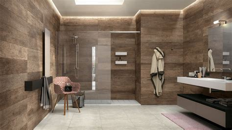wood tile bathroom wood look tile 17 distressed rustic modern ideas