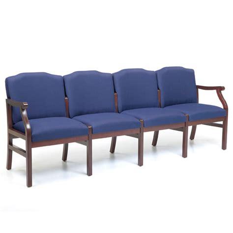 waiting room chairs vinyl lesro series 4 seat sofa healthcare vinyl