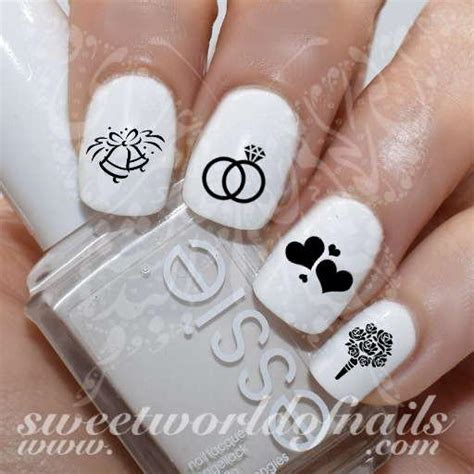 Wedding Bell Nail by Wedding Nail To Be Nail Water Decals Transfers Wraps