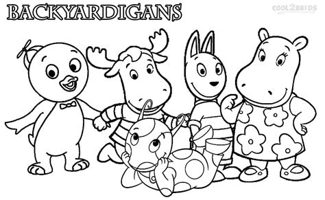 printable color sheets printable backyardigans coloring pages for cool2bkids