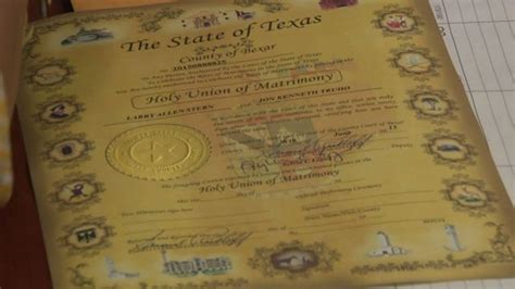 Marriage Records San Antonio Bexar County Clerk S Office Begins Issuing Same