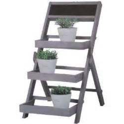 etagere bois support decoration fleur jardin plante
