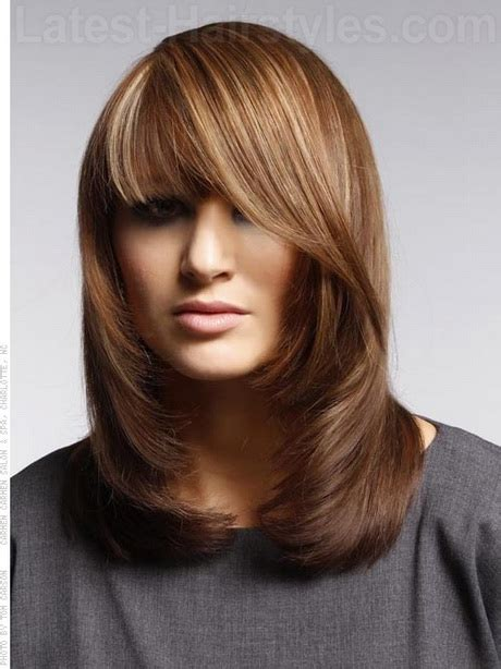 haircuts for long straight hair square face medium haircuts for women with bangs